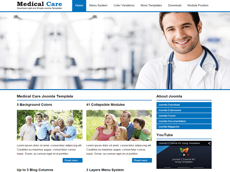JSR MEDICAL – FREE JOOMLA TEMPLATE HOSPITAL