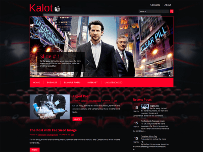 KALOT-FREE THEME WORDPRESS FOR FILMS