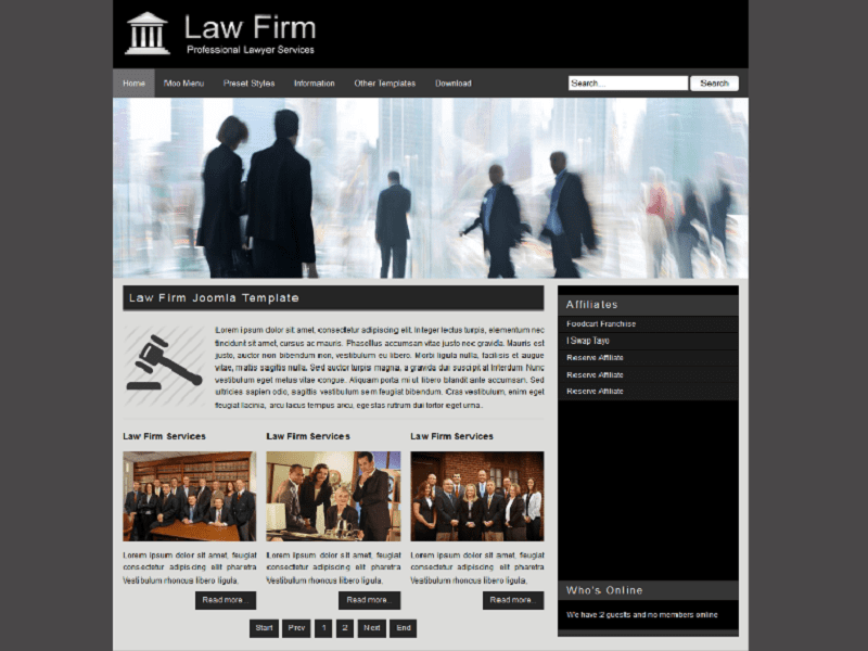 LAW FIRM – LAW JOOMLA TEMPLATE FREE