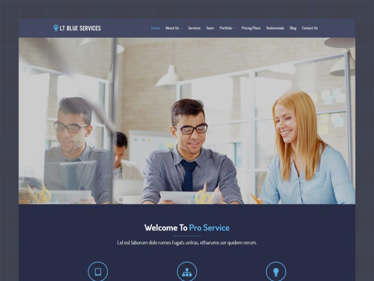 LT BLUE SERVICES WORDPRESS BUSINESS THEME