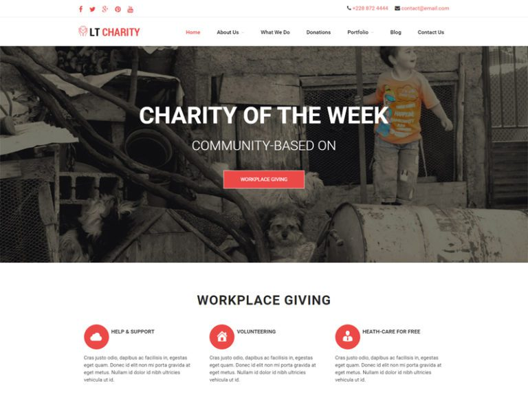 LT CHARITY FREE CHARITY WORDPRESS THEME