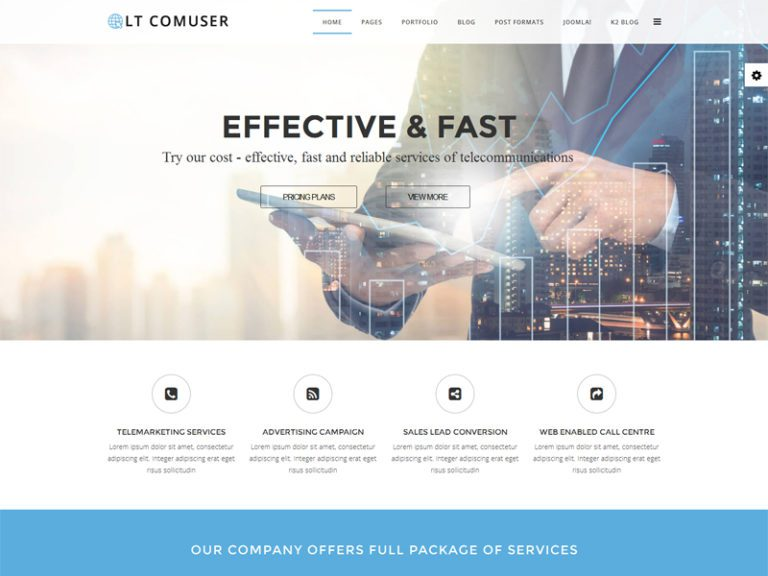 LT COMUSER FREE RESPONSIVE COMMUNICATIONS SERVICE PROVIDER JOOMLA TEMPLATE