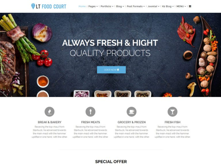 LT FOOD COURT FREE FOOD ORDER JOOMLA TEMPLATE