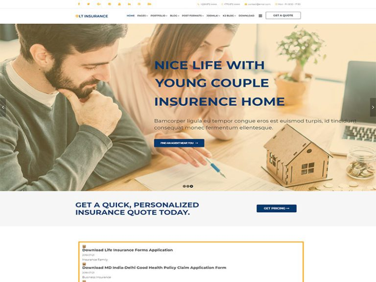 LT INSURANCE FREE JOOMLA INSURANCE THEME