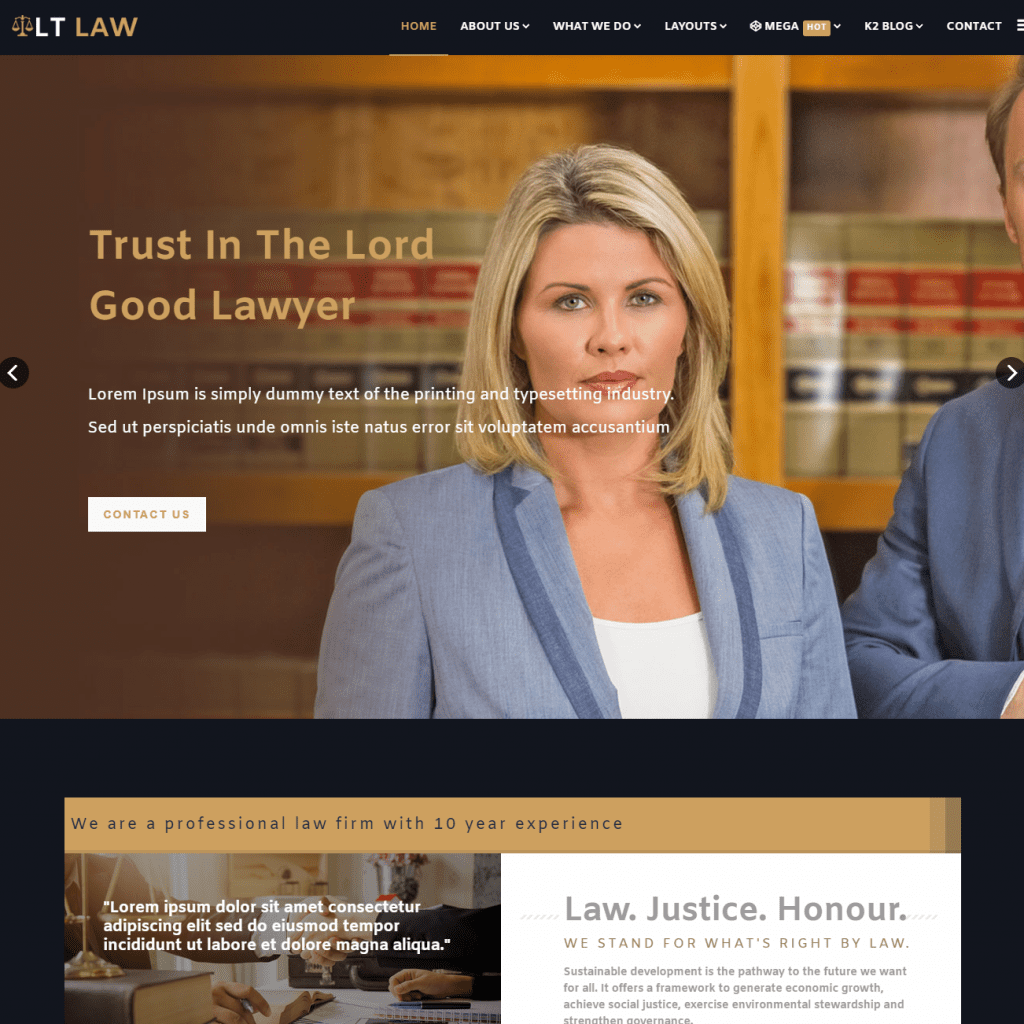 LT LAW ONE PAGE JOOMLA TEMPLATE
