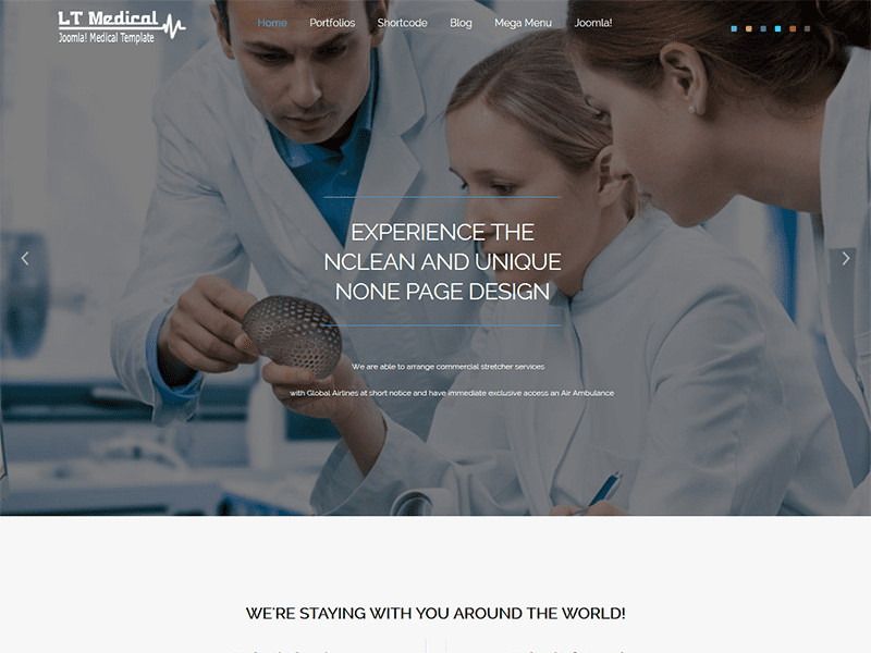 LT MEDICAL ONE PAGE JOOMLA TEMPLA