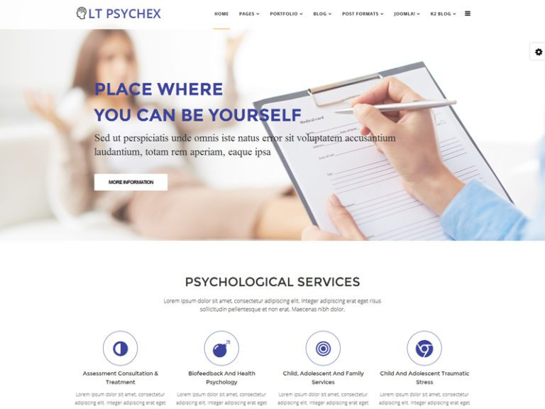 LT PSYCHEX FREE PSYCHOLOGY WEBSITE JOOMLA TEMPLATE