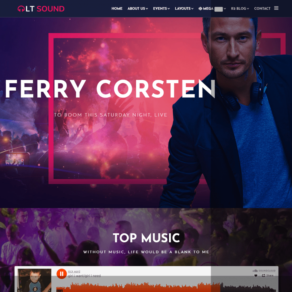 LT SOUND FREE MUSIC JOOMLA THEME
