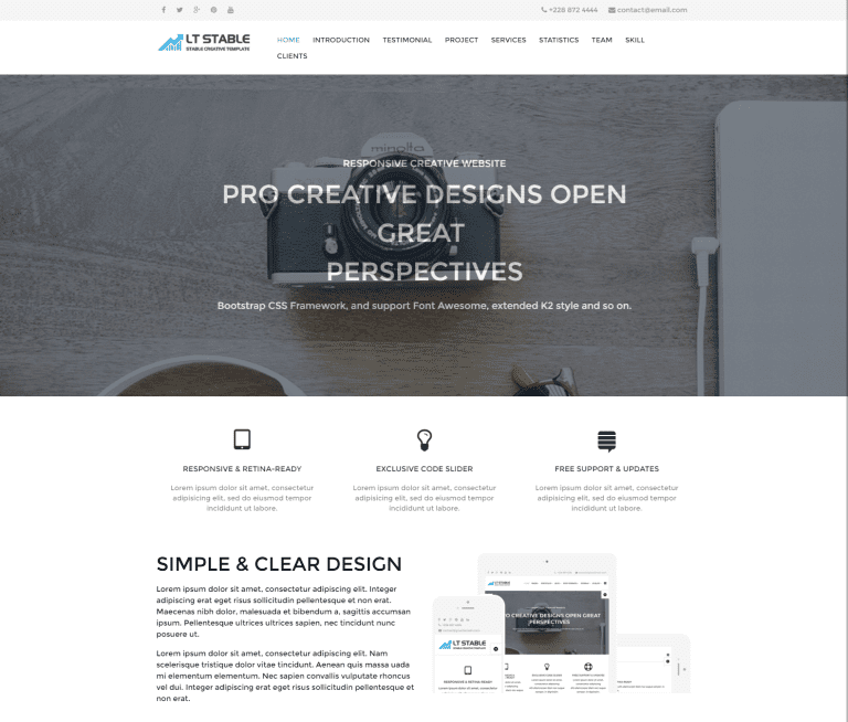 LT STABLE ONEPAGE FREE RESPONSIVE WORDPRESS THEME FOR BUSINESS