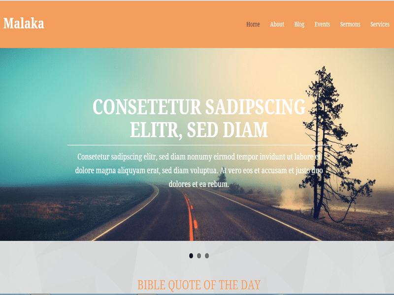 MALAKA FREE RESPONSIVE CHURCH SITES WORDPRESS THEME