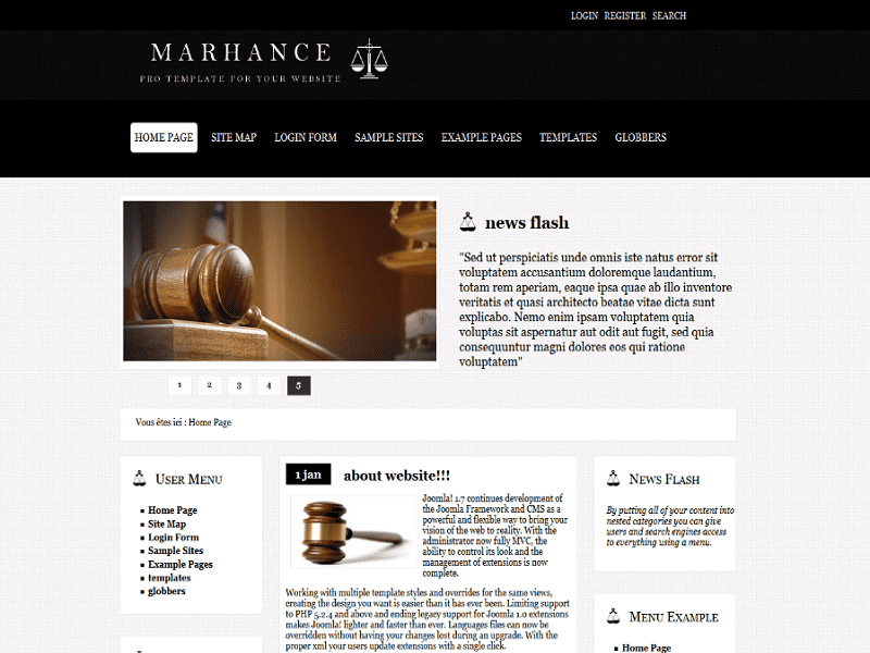 MARHANCE BLACK – JOOMLA TEMPLATE LAWYER FREE