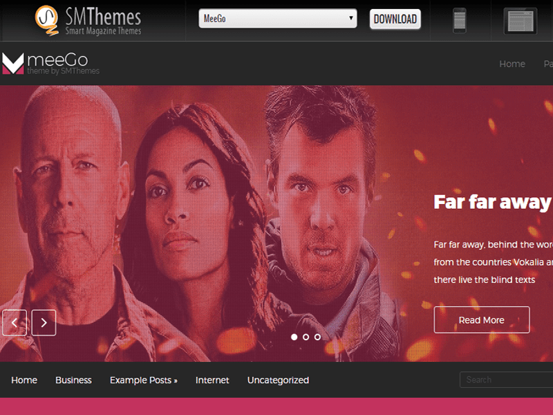 MEEGO – FREE WORDPRESS THEME FOR MOVIE