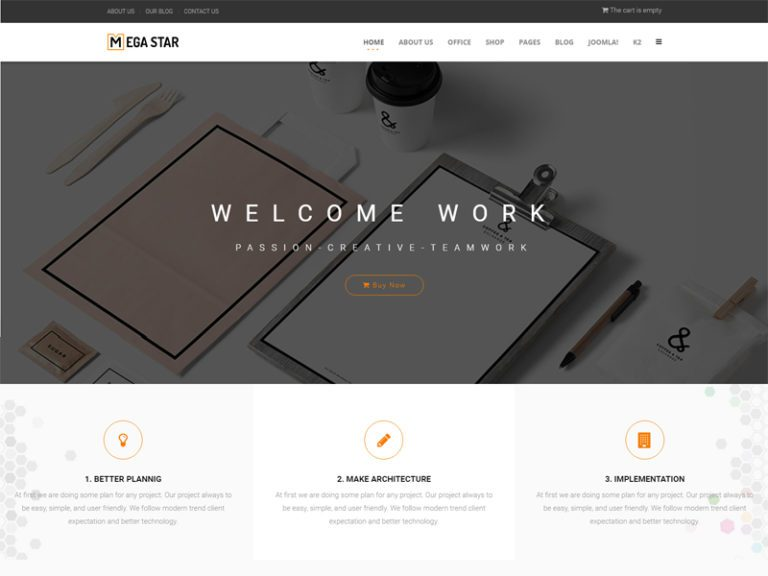 MEGASTAR FREE JOOMLA BUSINESS TEMPLATE