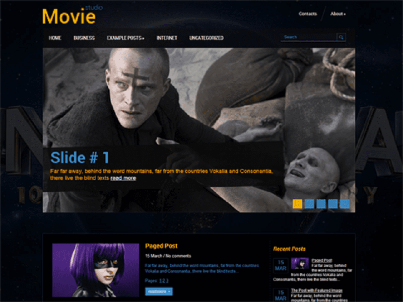 MOVIESTUDIO-FREE THEME WORDPRESS FILMS