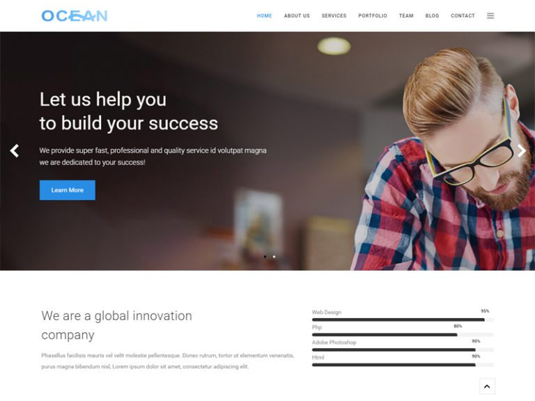OCEAN FREE BUSINESS JOOMLA TEMPLATE