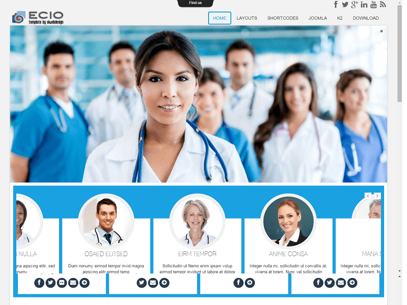 OL ECIO – FREE JOOMLA TEMPLATE FOR HOSPITAL