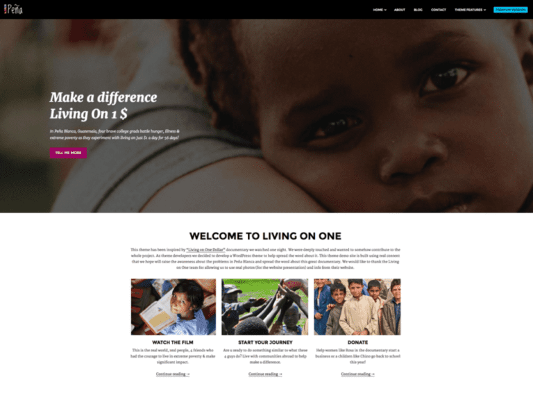 PENA LITE WORDPRESS CHARITY THEME