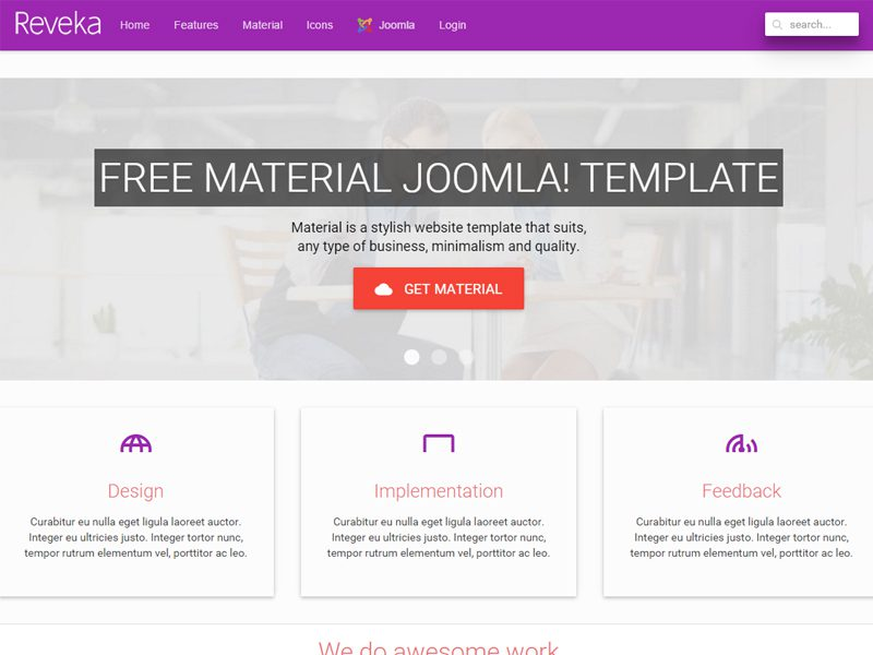 REVOKE FREE JOOMLA TEMPLATE FOR B