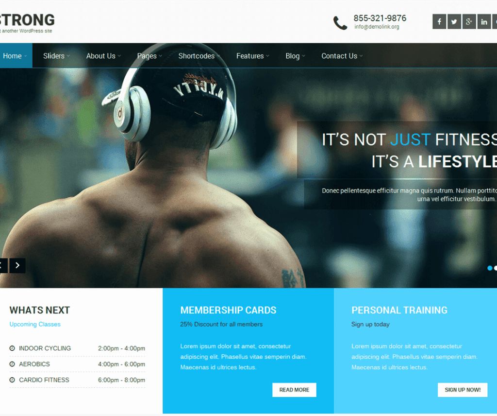 SKT STRONG FREE PHOTOGRAPHY WORDPRESS THEME