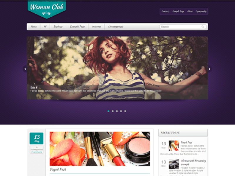 WOMANCLUB-FREE THEME WORDPRESS WOMEN