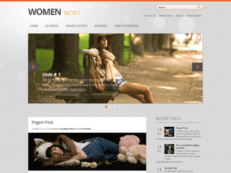 WOMANSECRET-FREE THEME WORDPRESS FOR WOMEN
