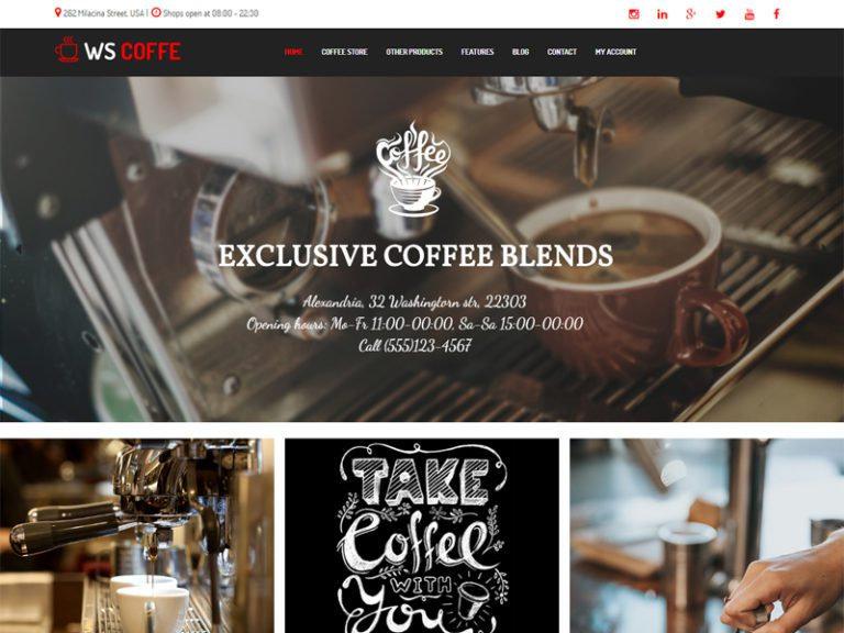 WS COFFEE FREE WORDPRESS WOOCOMMERCE THEME FOR CAFE SHOP