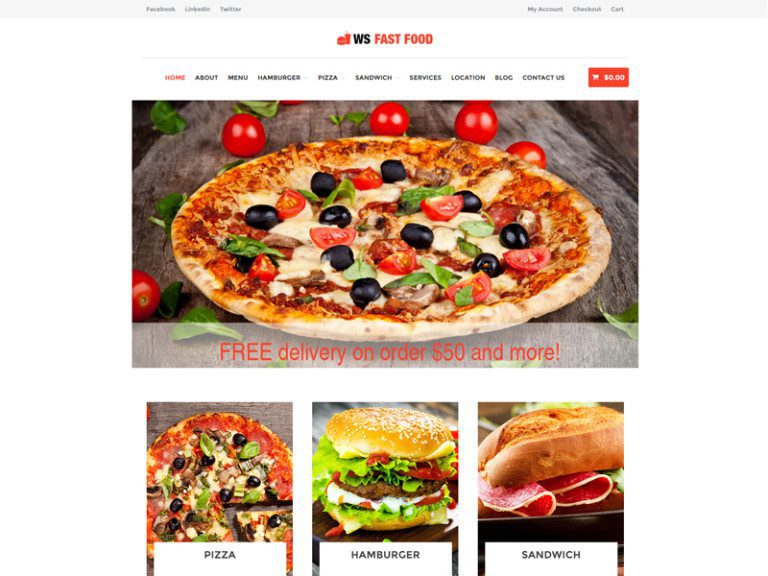 WS FAST FOOD FREE WORDPRESS WOOCOMMERCE THEME FOR FOOD ORDER