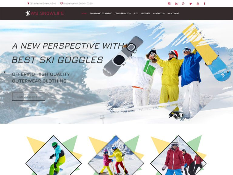 WS SNOWLIFE FREE WORDPRESS WOOCOMMERCE THEME FOR ONLINE SHOPPING