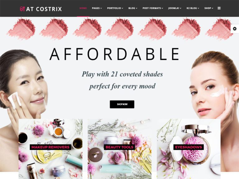 AT COSTRIX FREE JOOMLA COSMETICS STORE TEMPLATE