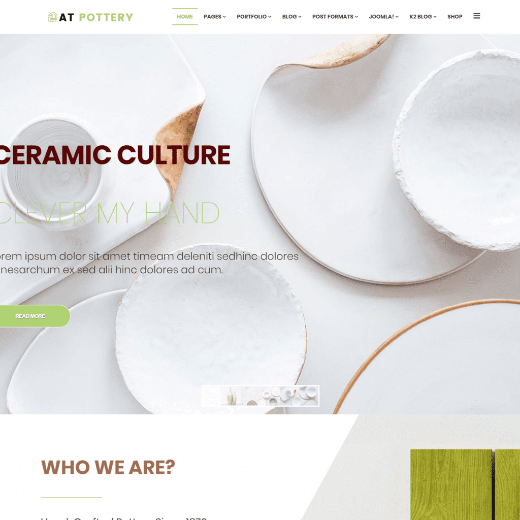 AT POTTERY FREE RESPONSIVE POTTERY WEBSITE TEMPLATE