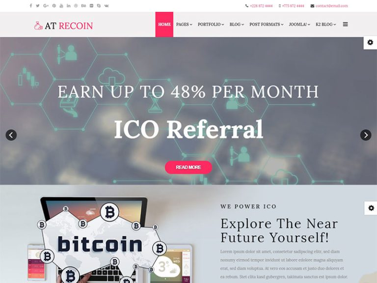 AT RECOIN FREE RESPONSIVE CRYPTOCURRENCY JOOMLA TEMPLATE