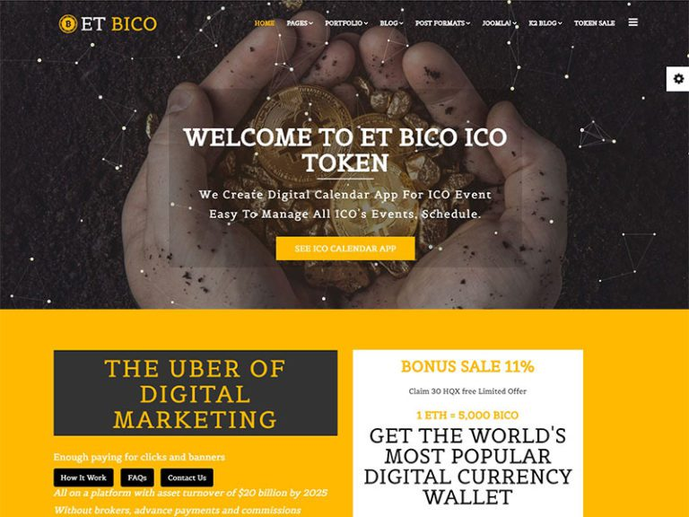 ET BICO FREE RESPONSIVE CRYPTOCURRENCY WEBSITE TEMPLATE