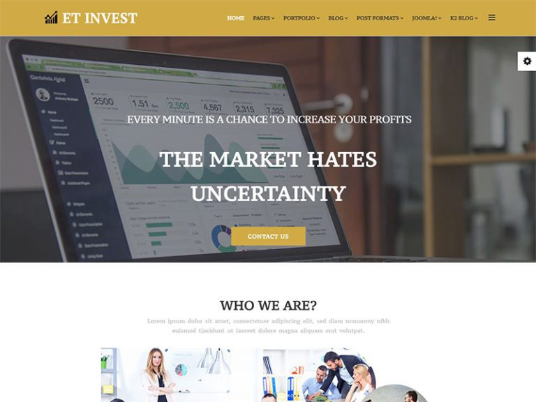 ET INVEST FREE RESPONSIVE INVESTMENT JOOMLA TEMPLATE