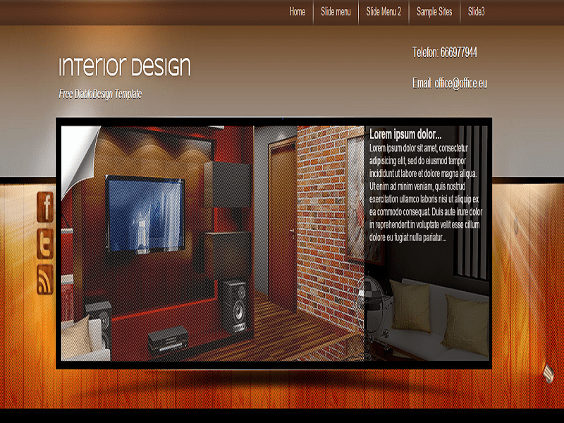 INTERIOR DESIGN – JOOMLA TEMPLATE THE FURNITURE