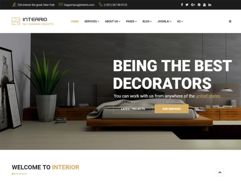 INTERRIO FREE JOOMLA INTERIOR TEMPLATE