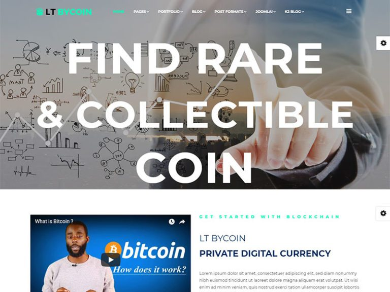 LT BYCOIN FREE RESPONSIVE CRYPTOCURRENCY WEBSITE TEMPLATE