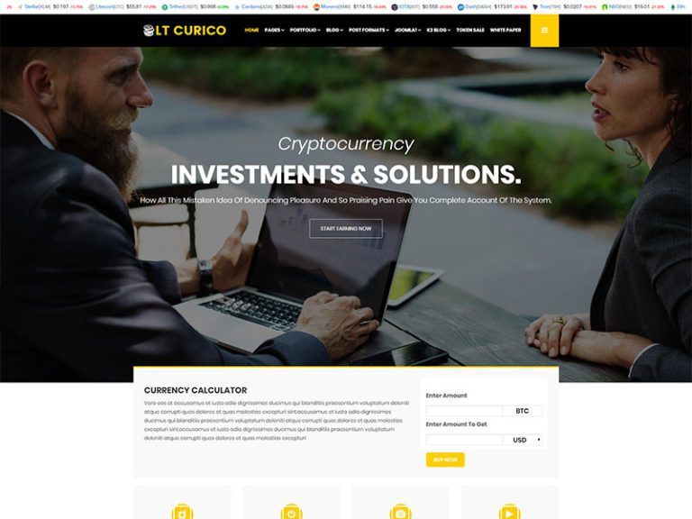 LT CURICO FREE PRIVATE CRYPTOCURRENCY WEBSITE TEMPLATE