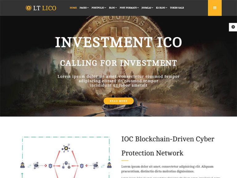 LT LICO FREE RESPONSIVE CRYPTOCURRENCY WEBSITE TEMPLATE