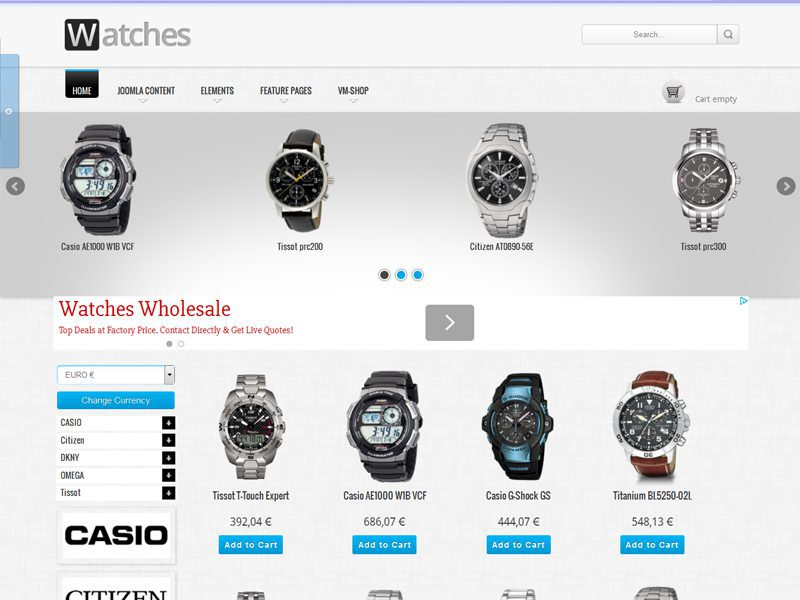 OS WATCHES SHOP FREE JOOMLA BEST TEMPLATE