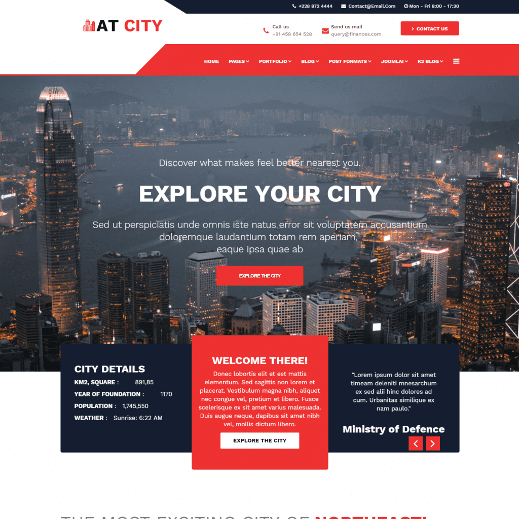 AT CITY FREE JOOMLA CITY GUIDE THEME