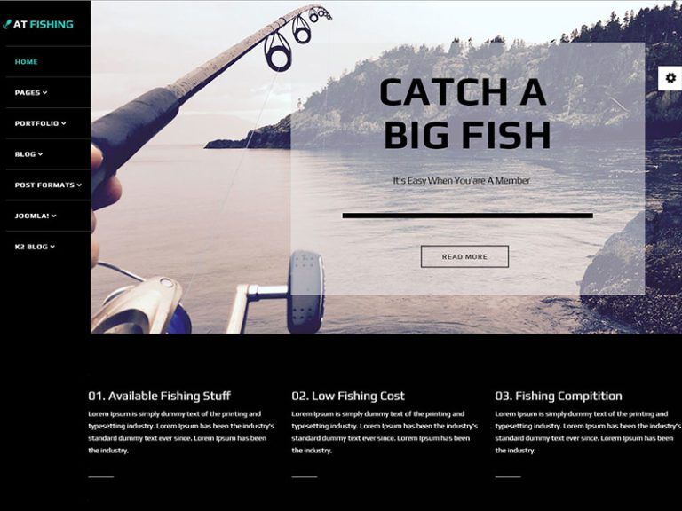 AT FISHING FREE RESPONSIVE FISHING JOOMLA TEMPLATE