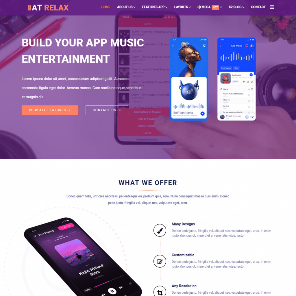 AT RELAX PROFESSIONAL JOOMLA APP TEMPLATE