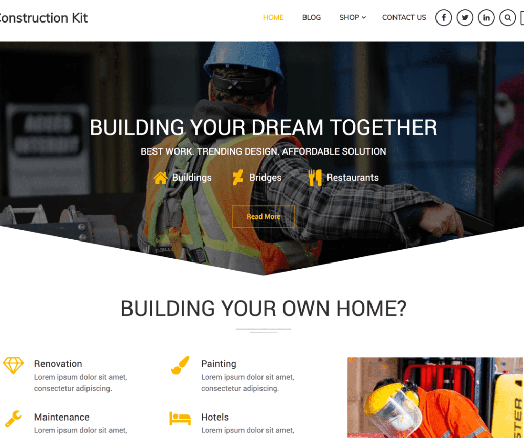 CONSTRUCTION KIT FREE EDUCATION WORDPRESS THEME