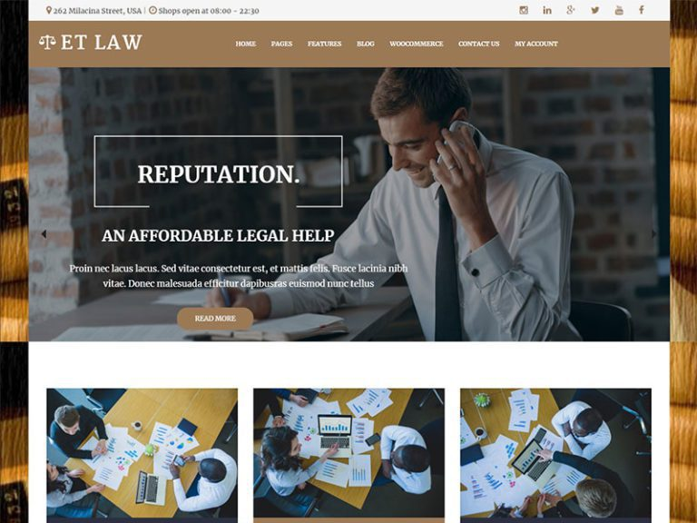 ET LAW FREE RESPONSIVE LAW WORDPRESS THEME