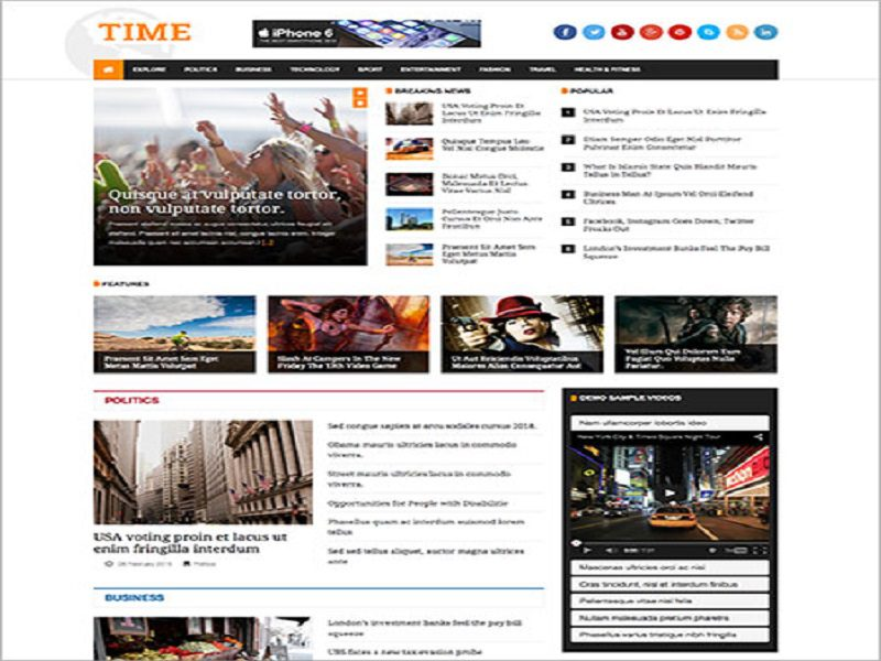 JSN TIME – FREE JOOMLA TEMPLATE FOR NEWS , MAGAZINE