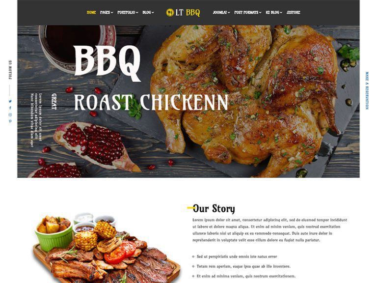 LT BBQ FREE RESPONSIVE BARBECUE J2STORE JOOMLA TEMPLATE
