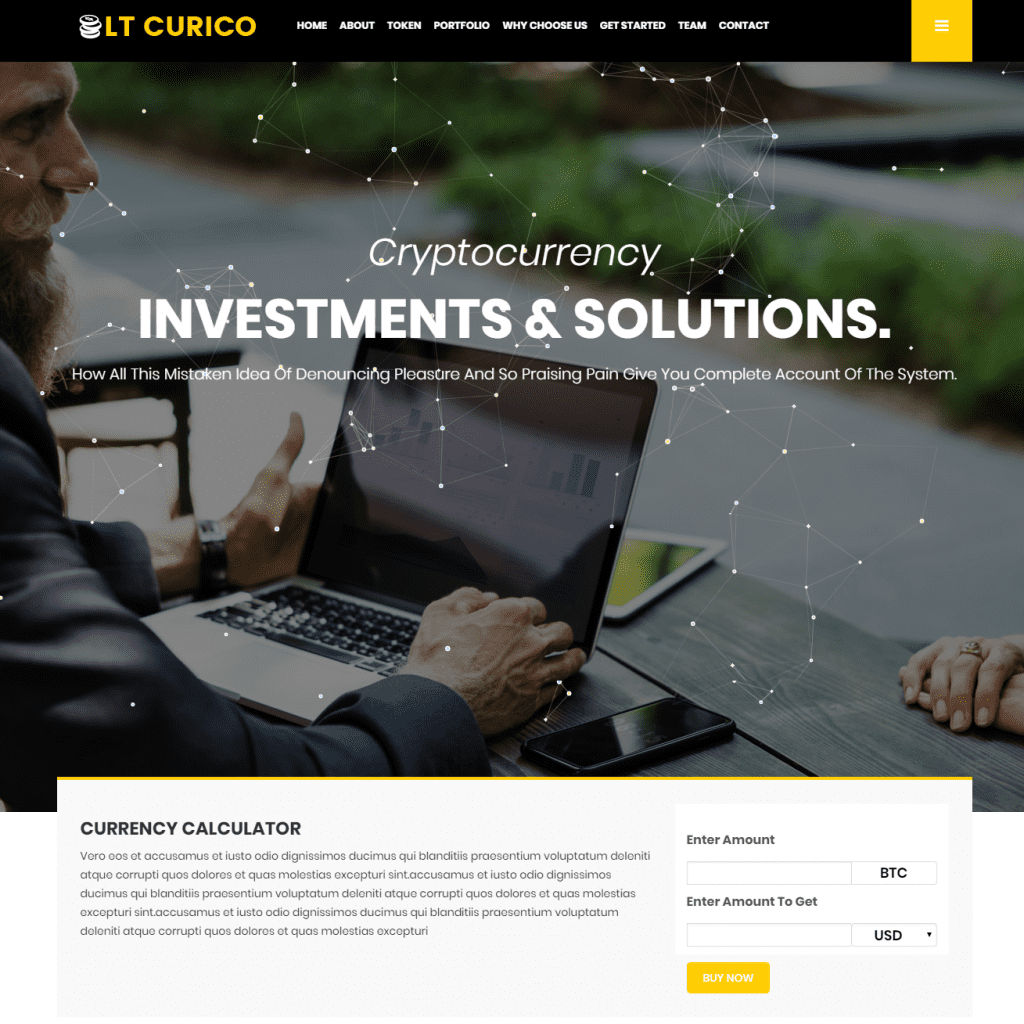 LT CURICO ONEPAGE FREE SINGLE PAGE RESPONSIVE CRYPTOCURRENCY WEBSITE TEMPLATE