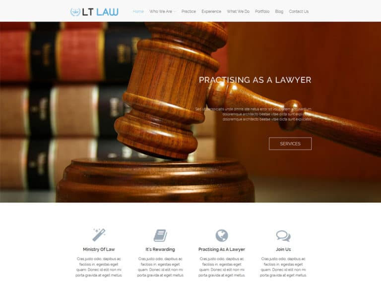 LT LAW FREE RESPONSIVE LAW FIRM WORDPRESS THEME