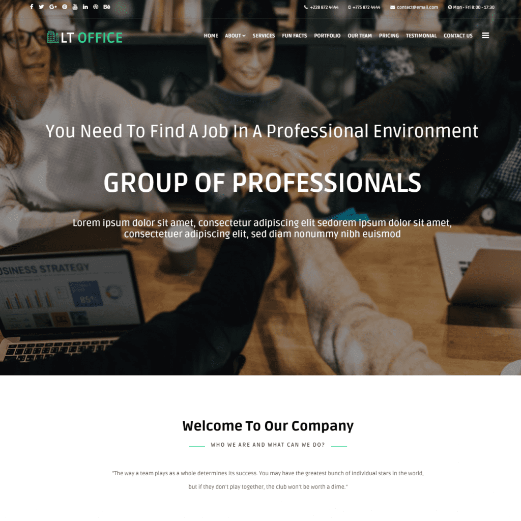 LT OFFICE ONEPAGE FREE SINGLE PAGE RESPONSIVE JOOMLA COMPANY THEME