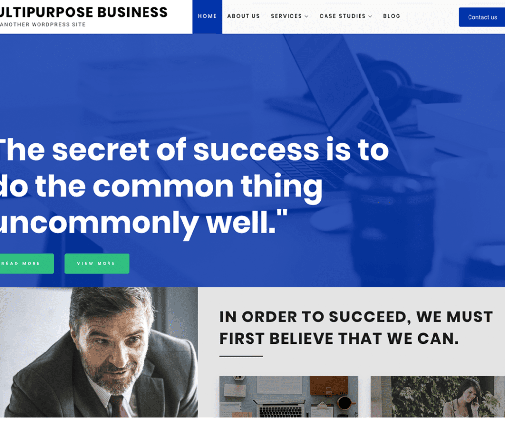 MULTIPURPOSE BUSINESS FREE ENTERTAINMENT WORDPRESS THEME